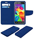 Acm Mobile Leather Flip Flap Wallet Case for Samsung Galaxy Core Prime Mobile Cover Blue