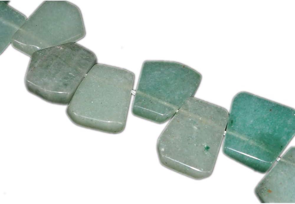 AITELEI Natural Verde Aventurina Cristal Granos Sueltos Conjunto Forma Irregular Perlas de Piedras Preciosas para la Joyería de Cristal Piedra de Energía