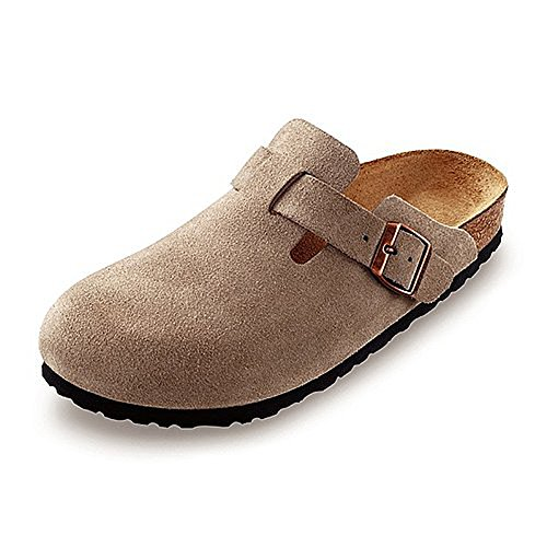 Birkenstock Boston Classic  Arch Clog,Taupe Suede,45 M EU by Birkenstock