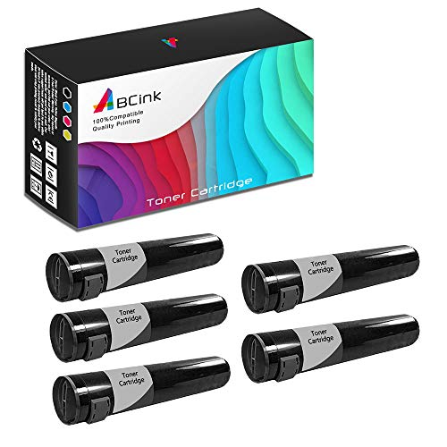 - ABCink Compatible Toner Cartridge Replacements for Xerox 16194700,for use in Xerox Phaser 7700 7700DN 7700DX 7700GX,5000 Yields(5 Pack,Black)