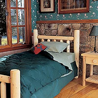 Rustic Natural Cedar Furniture Old Country Log Bed - Headboard Only