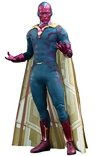 Hot Toys Movie Masterpiece Vision Avengers Age of Ultron Sixth Scale Acion Figure -