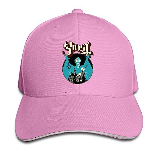 Memoy Ghost Halloween Band Trucker Sandwich Cap Peaked Cap Pink]()