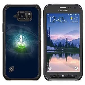 LECELL--Funda protectora / Cubierta / Piel For Samsung Galaxy S6Active Active G890A -- Virgo Signo del Zodiaco --
