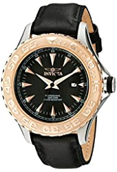 Invicta Men's 12617 Pro Diver Stainless Steel Watch With Black Leather Band