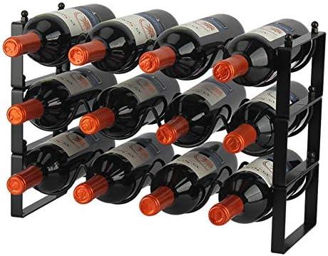 DreamiDeco 3 Tier Stackable Wine Rack