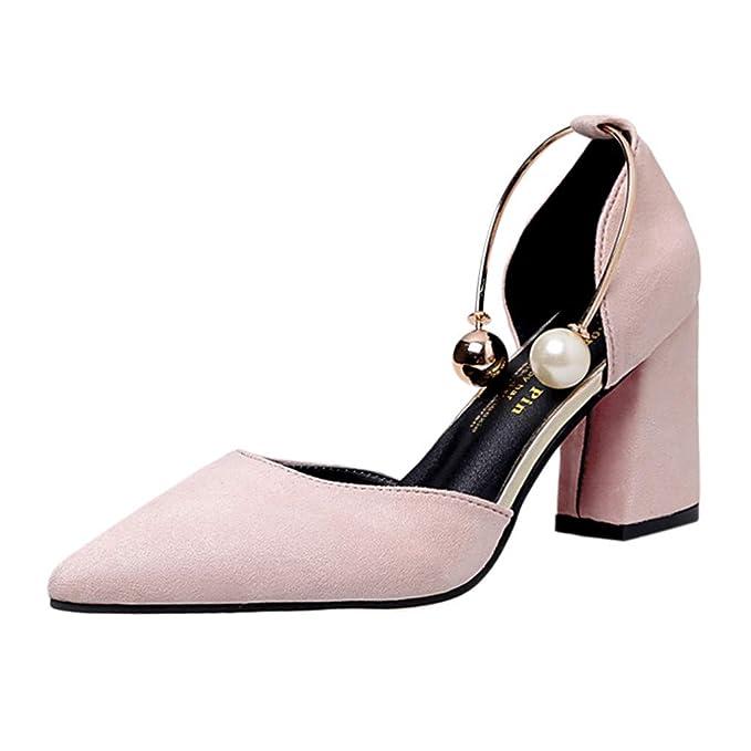 Kinlene Sandalias Zapatillas Zapatos de tacón Las señoras de Las Mujeres de Moda de Verano causales Zapatos Solos Sandalias: Amazon.es: Ropa y accesorios