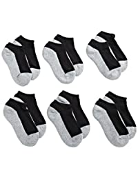 Jefferies Socks Little Boys' Seamless Sport Low Cut Half Cushion  Socks (Pack of 6)