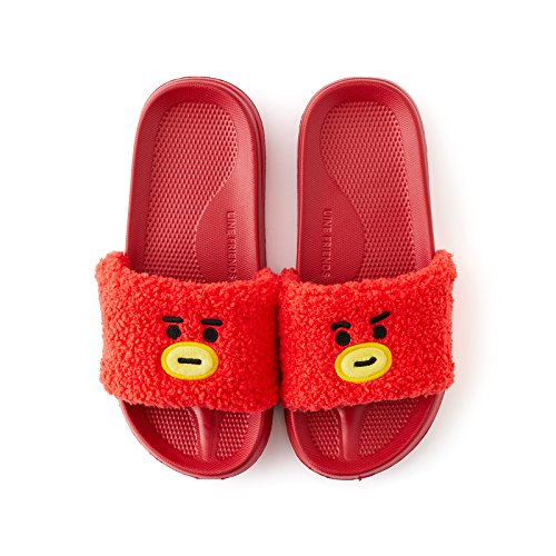 eaeb5d311fd8 BT21 Official Merchandise by Line Friends - TATA Character Boucle Indoor  House Slippers
