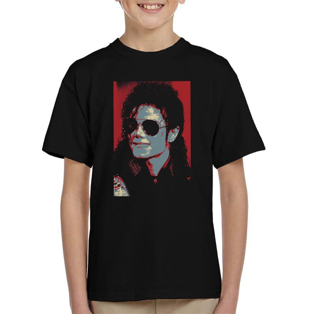 POD66 Michael Jackson Portrait 1990 Classic Aviator Sunglasses Kid's T-Shirt