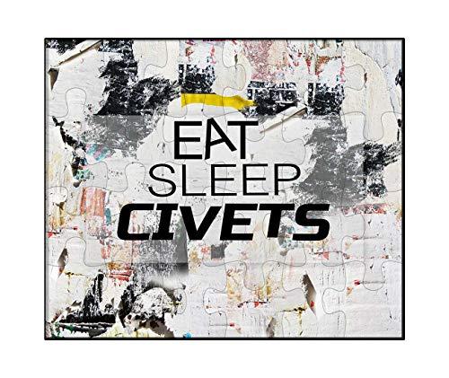Civets Animals - Makoroni - EAT Sleep Civets Animal - Jigsaw Puzzle, 30 pcs.