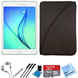 Samsung Galaxy Tab A SM-T350NZWAXAR 8-Inch Tablet (16 GB, White) 32GB Memory Card Bundle includes Tablet, 32GB Memory Card, Headphones, Sleeve, 3 Stylus Pens, Lens Cleaning Kit & Micro Fiber Cloth