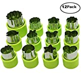 Vegetable Cutter Shapes Set of 12, Mini Cookie,Vegetable Cutters and Fruit Molds, Flower Star Cartoon Animals Fruit Mold Decorating Tools for Kids Baking and Food Supplement Tools Accessories Crafts.