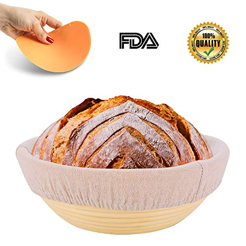 10Inch Round Proofing Baskets | Handmade Banneton Proofing Baskets | Durability Smooth Proofing Baskets | Round Zero Splintering Proofing Baskets | Sourdough Proofing Bowl for Homemade Dough Bread