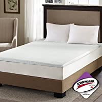 Sleep Philosophy Memory Foam Mattress Protector Cooling Bed Cover King White