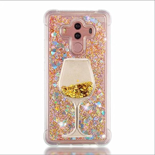 Case for Samsung Galaxy J7 V,J7 Prime (2017),J7 2017,J7 Perx,J7 Sky Pro, Halo, Air cushion Design 3D Goblet Wineglass Liquid Quicksand Bling Floating Moving Glitter TPU + PC Case (X Wine color2)