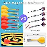 Safety Magnetic Dartboard Board Game Set -Two Sided Bullseye Dartboard,17 Inch Dart Board with 6 pcs Safe Darts, Easily Hangs Anywhere,for Adults Family Party Leisure Sports Games Gifts