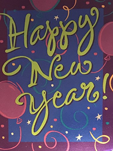 (24) Foil Embellished Happy New Year Party Invitations- 24 Fill in Invitation Cards and White Envelopes ()