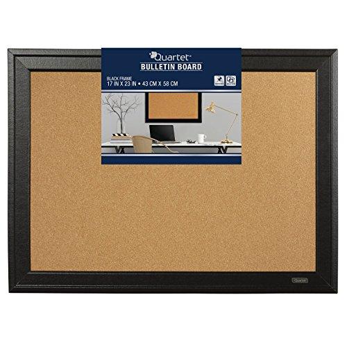 Quartet Cork Bulletin Board, 17 x 23 Inches, Home Décor Corkboard, Black Frame ()