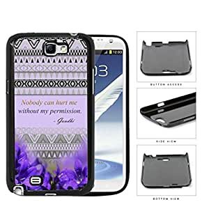 Ghandi Quote with Purple Flowers and Aztec Pattern Hard Snap on Phone Case Cover Samsung Galaxy Note 2 N7100