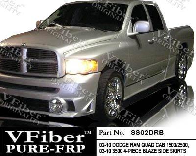 2002-2010 Dodge RAM Pick-Up Body Kit Blaze Side (Vfiber Side Skirts)
