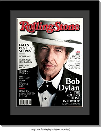 CreativePF [1114bk-b] Collectors Edition Rolling Stones Magazine Frame, Displays Current Magazines Measuring 8 by 10.75-inches w/Black Matting and Wall Hanger ()