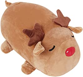 Miniso Rudolf Stuffed Animal Plush, Pillow Plush Toy Girls Boys Kids Over 36 Months Old