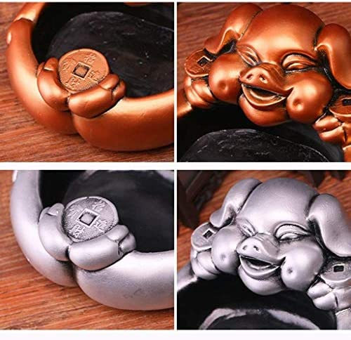 葉巻灰皿, ファッション灰皿ルームデコレーション研究(カラー:ゴールド)リビングパーソナリティクラフトギフト、カラー:ゴールド (Color : Gold)