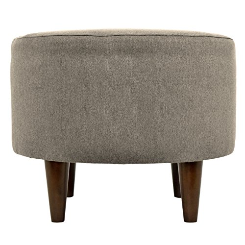 MJL Furniture Designs Sophia Collection Dawson Series Contemporary Round Ottoman, Brindle/Gray Brown/Wooden Legs by MJL Furniture Designs