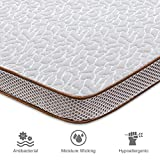 Bedstory Gel Memory Foam Mattress Topper, 2 Inch Ventilated High Density Cooling Bed