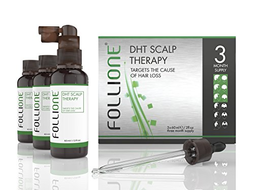Follione DHT Scalp Therapy - three month supply. Regrow H...
