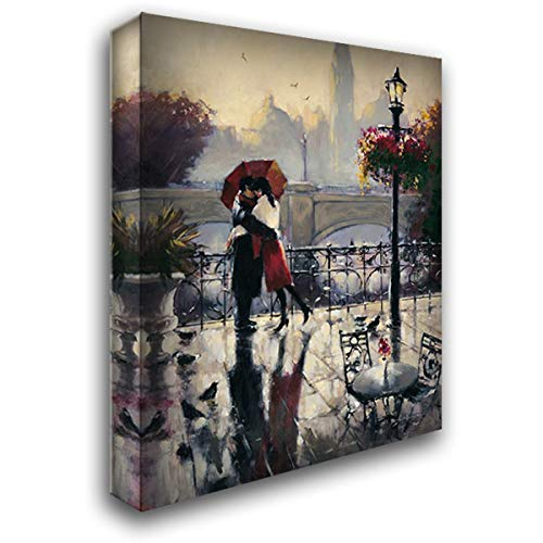 Romantic Embrace 20x24 Gallery Wrapped Stretched Canvas Art by Heighton, Brent ()