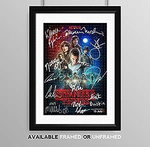 Stranger Things Cast Signed Autograph Signature