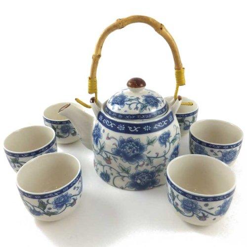 Chinese Tea Set - Peony Design Got-Bonsai? - Giftware