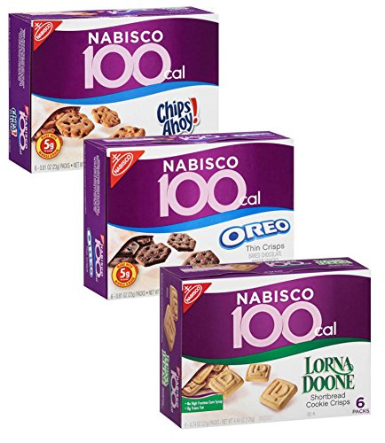 Nabisco 100 Calorie Cookie Variety Pack: Oreo, Lorna Doone, and Chips Ahoy! (3 boxes, 18 packs total) (Calories Oreo Cookie)