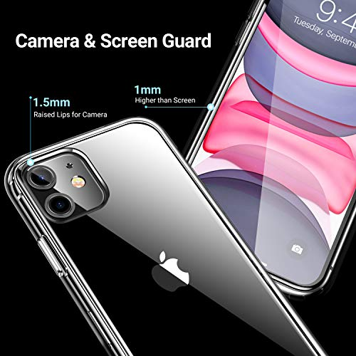 CASEKOO Crystal Clear Designed for iPhone 11 Case, [Not Yellowing] [Military Grade Drop Tested] Shockproof Protective…