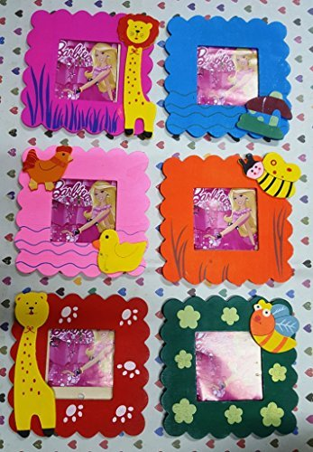 Gberry Wooden cute Animal Design photo fre for birthday return gift ( SET OF 6 )