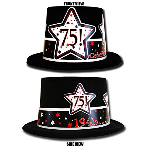 75th Birthday Top Hat