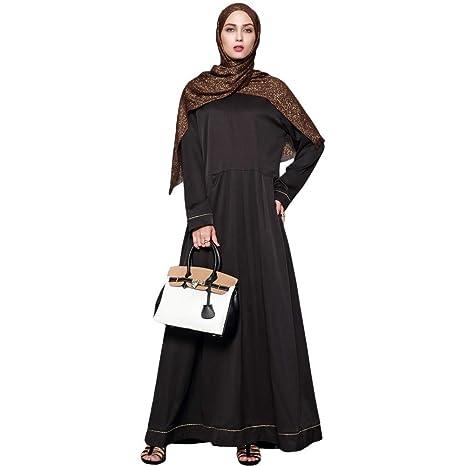 Vestido Largo musulmán for Mujer Vestido Largo con Cordones ...