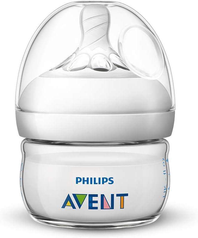 زجاجة رضاعة للأطفال من فيليبس افينت مع حلمة بطيئة التدفق بسعة 60 مل