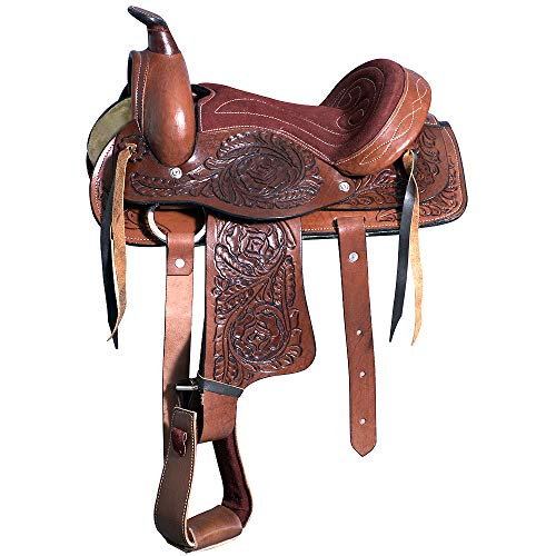 Great American 10″ Kids Youth Children Miniature Pony Saddle Leather Pleasure Western