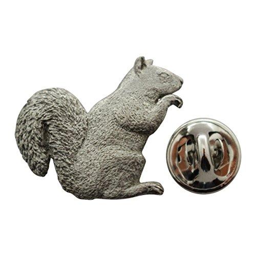 Squirrel Pin ~ Antiqued Pewter ~ Lapel Pin ~ Sarah's Treats & Treasures