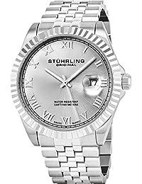 Stuhrling Original Men's 599G.01 Symphony Regent Coronet Swiss Quartz Date Stainless Steel Bracelet Watch
