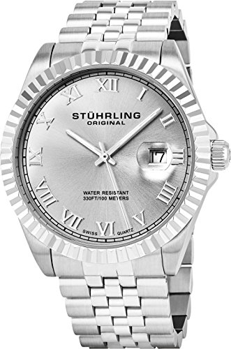 Stuhrling Original Men's 599G.01 Symphony Regent Coronet Stainless Steel Bracelet Watch
