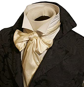 Men's Steampunk Clothing, Costumes, Fashion Elegantascot Mens Handmade Extra-Long Slim Regency Dupioni Silk Tie $30.00 AT vintagedancer.com
