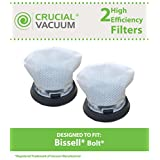 2 High Quality Washable & Reusable Bissell 1479 Bolt Filter, Part # 1604734, by Crucial Vacuum