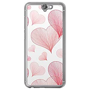 Loud Universe HTC One A9 Love Valentine Printing Files Valentine 5 Printed Transparent Edge Case - Red/White