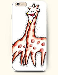 iPhone 6 Plus Case 5.5 Inches Two Giraffe Lover - Hard Back Plastic Case OOFIT Authentic