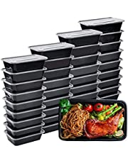 5 Pack Microwave Boxes Insulated Healthy Food Storage Containers with Lids for Dishwasher Freezer Safe (650ML- 23 OZ)