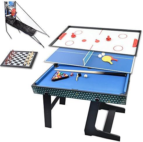 Win.max 3.5Ft Deluxe 5 en 1 mesa de juego plegable tabla de tenis ...